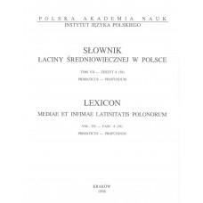 Słownik łaciny średniowiecznej w Polsce, t. VII, z. 8 (59)