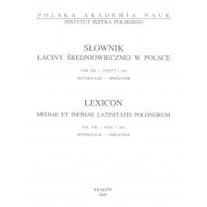 Słownik łaciny średniowiecznej w  Polsce, t. VIII, z. 7 (69)
