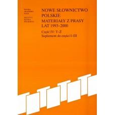 Nowe słownictwo polskie 1993-2000,  cz. IV: T-Ż