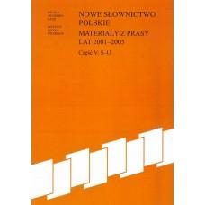 Nowe słownictwo polskie 2001-2005, cz. V: S-U