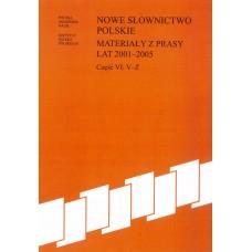 Nowe słownictwo polskie 2001-2005, cz. VI: V-Ż