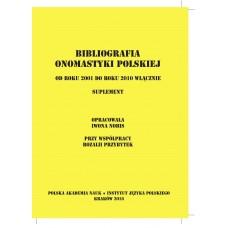 Bibliografia onomastyki polskiej 2001-2010. Suplement