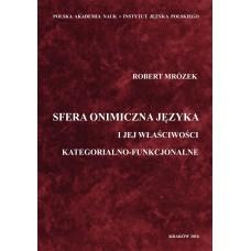 Robert Mrózek, Sfera onimiczna języka