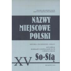 Nazwy miejscowe Polski - tom XV: So-Stą