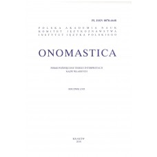 Onomastica LXII