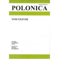 Polonica t. XXXVIII