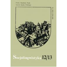 Socjolingwistyka 12-13