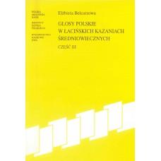 Elżbieta Belcarzowa, Glosy polskie w łacińskich... Część III