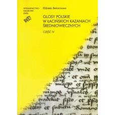 Elżbieta Belcarzowa, Glosy polskie w łacińskich... Część IV