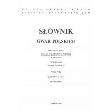 Słownik gwar polskich, t. 7, z. 1 (20)