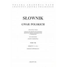 Słownik gwar polskich, t. 7, z. 2 (21)