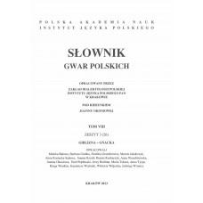 Słownik gwar polskich, t. 8, z. 3 (26)