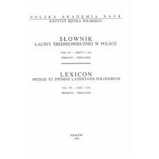 Słownik łaciny średniowiecznej w Polsce, t. VII, z. 3 (54)