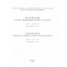 Słownik łaciny średniowiecznej w Polsce, t. VII, z. 4 (55)