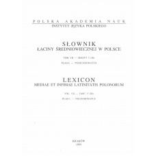 Słownik łaciny średniowiecznej w Polsce, t. VII, z. 5 (56)