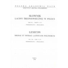 Słownik łaciny średniowiecznej w Polsce, t. VII, z. 6 (57)