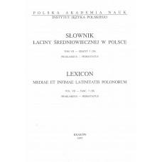 Słownik łaciny średniowiecznej w Polsce,  t. VII, z. 7 (58)