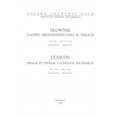 Słownik łaciny średniowiecznej w Polsce, t. VII, z. 9 (60)