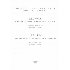 Słownik łaciny średniowiecznej w Polsce, t. VII, z. 10 (61)