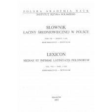 Słownik łaciny średniowiecznej w  Polsce, t. VIII, z. 3 (65)