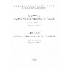 Słownik łaciny średniowiecznej w Polsce, t. VIII, z. 4 (66)