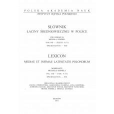 Słownik łaciny średniowiecznej w Polsce, t. VIII, z. 9 (71)