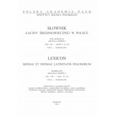 Słownik łaciny średniowiecznej w Polsce, t. VIII, z. 10 (72)