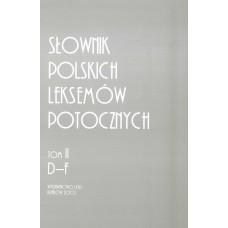 Słownik polskich leksemów potocznych. Tom II: D-F