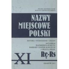 Nazwy miejscowe Polski - tom XI: Rę-Rs