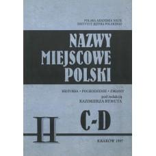 Nazwy miejscowe Polski - tom II: C-D