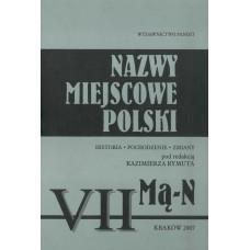 Nazwy miejscowe Polski - tom VII: Mą-N
