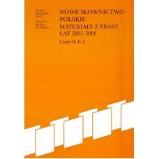 Nowe słownictwo polskie 2001-2005, cz. II: E-J