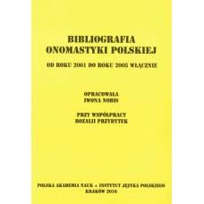 Bibliografia onomastyki polskiej 2001-2005