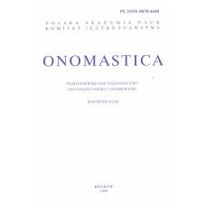 Onomastica XLIII