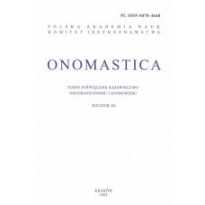 Onomastica XL