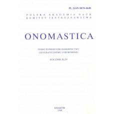 Onomastica XLIV
