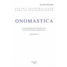 Onomastica XLI