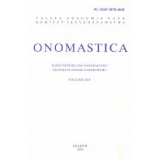 Onomastica XLV
