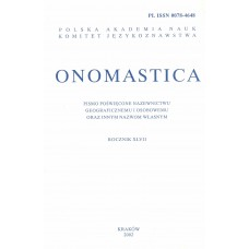 Onomastica XLVII