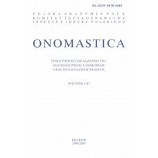 Onomastica LIII