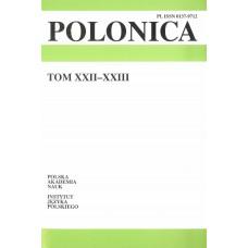 Polonica t. XXII-XXIII