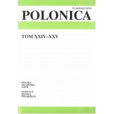 Polonica t. XXIV-XXV