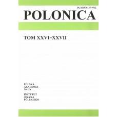 Polonica t. XXVI-XXVII