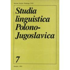 Studia linguistica Polono-Jugoslavica 7