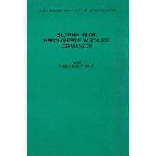 Słownik imion współcześnie w Polsce używanych