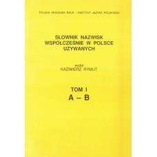 Słownik nazwisk, t. I: A-B, Kazimierz Rymut