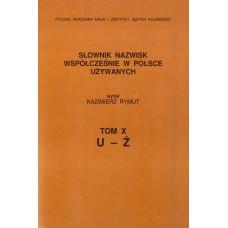 Słownik nazwisk, t. X: U-Ż, Kazimierz Rymut