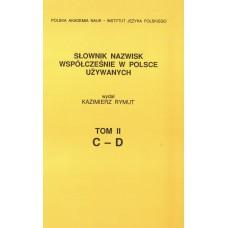 Słownik nazwisk, t. II: C-D, Kazimierz Rymut