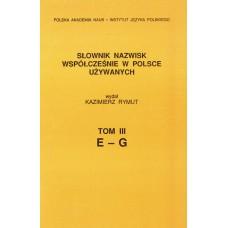 Słownik nazwisk, t. III: E-G, Kazimierz Rymut