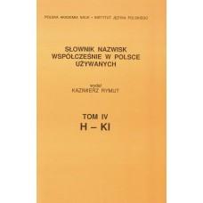 Słownik nazwisk, t. IV: H-Kl, Kazimierz Rymut